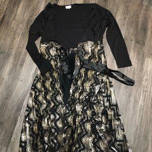 NWT large Deanne Lularoe dress long sleeve